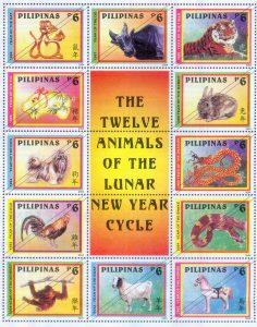 12 Animals of the Lunar New Year Cycle